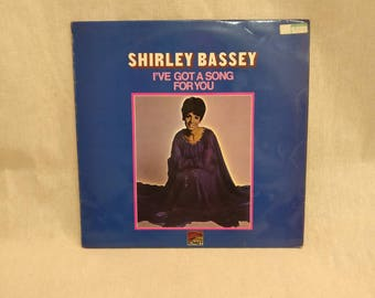 Vintage Vinyl Record, Shirley Bassey, I've got a song for you, SLS 50151