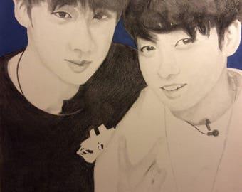 Jin & jungkook fan art