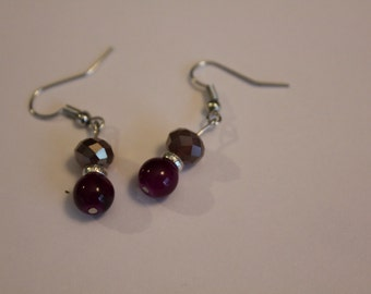 2 stones with ring earrings