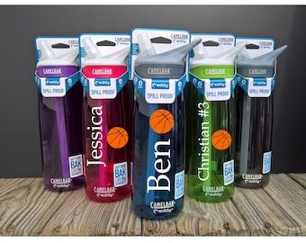 Basketball Water Bottle ~ Basketball Bottle ~ Custom Basketball Bottle ~ Basketball Water Bottles ~ Camelbak Bottle ~ Custom Camelbak