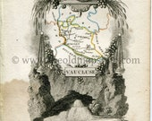 1823 Perrot Map of Vauclu...