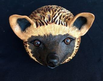 Handmade Ceramic Hedgehog Original Clay Sculpture Spirit Animal Magic Unique Garden Gift Statue Most Popular Nature Lover Gift Home Decor