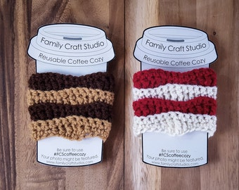 Made-to-Order 2-Set 2-Color Wave Coffee Cozies