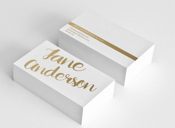 Golden Business Card Template Hair Stylist Business Card - Hair stylist business card template