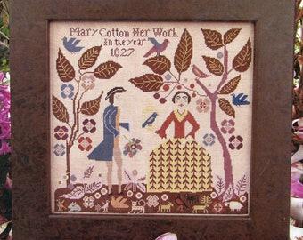 Mary Cotton by Carriage House Samplings Counted Cross Stitch Pattern/Chart