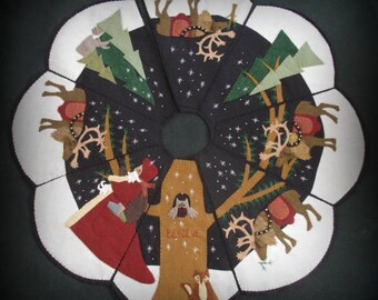 Starry Night Full Size Christmas Tree Skirt E-PATTERN by cheswickcompany