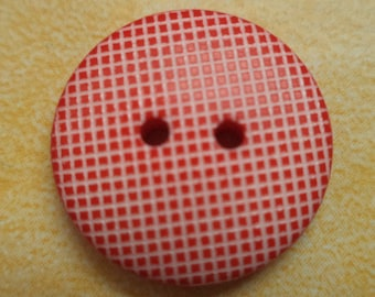 14 buttons 18mm red white (5027)