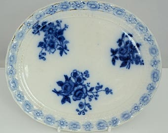 Keeling & Co. STAFFORDSHIRE Ironstone Teapot stand SEVRES pattern C1886 Blue and White