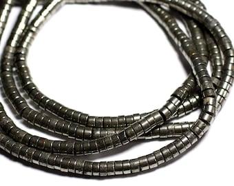 20pc - stone beads - Pyrite Golden Rondelles 6 x 3-4mm - 4558550084361