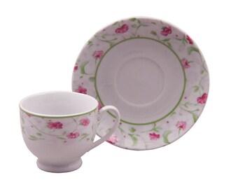 Princess pink and feminine teacup