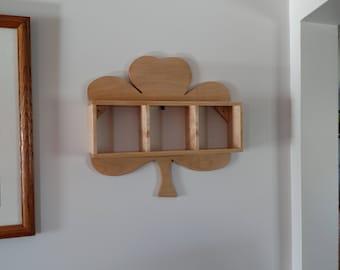 Wall shelf, wall shelves, shamrock shelf, knick knack shelf, decorative shelf, wall decor, solid Maple