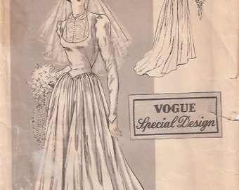Vogue 4919 Misses' Wedding Dress