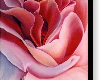 Peach Rose Fine Art Canvas Print