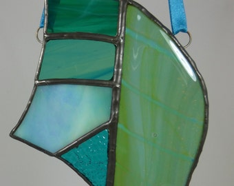 Mdina Magic ocean colours stained glass light catcher