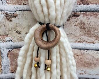 Hand Carved Wooden Dread Tie, Dreadlock Tie, Dread Holder, Hair Tie, Dreads, Dreadlocs, Gypsy, Hippie, Boho, Festival, Hair Band