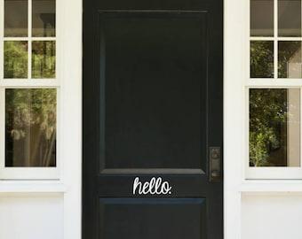 Hello/Goodbye Door Decals