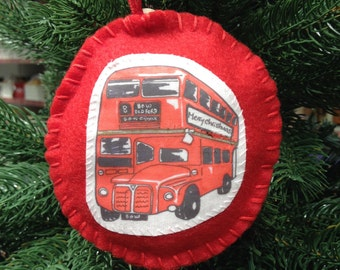 Christmas Decoration London Bus London Christmas Decoration Charity Donation to Age UK
