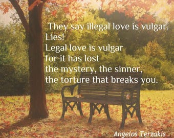 Love Greek Quote, 8x10. Printable Art
