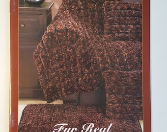 Bernat Fur Real | Patterns for Fabulous Fur-Look Decor Using Boa Furs & Boa | Learn to knit instructions Included | Knitting patterns