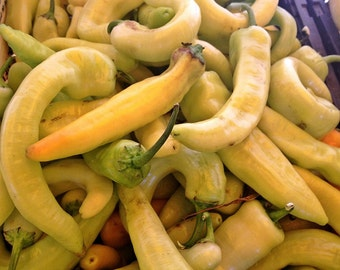 Sweet Banana Pepper Seeds Heirloom Frying Pickling Pepper Non-GMO Naturally Grown Open Pollinated Gardening