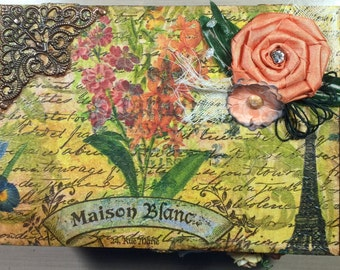 Distressed Mixed Media Storage Box