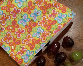 Lunch Bags-Snack Bags-Sandwich Bags-Reusable Lunch Bag-Fabric Lunch Bag-Fabric Sandwich Bag