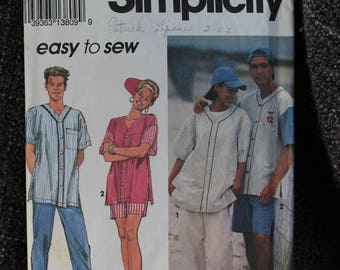 Simplicity , 8306 Misses', Mens' or Teen Boys' Pants or Shorts, Shirt and Cap Pattern SizeAA (XS-MD) 1993