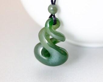British columbian hand carved nephrite jade pendants maori jade double twist carved nephrite jade necklace double eternity aloadofball Choice Image