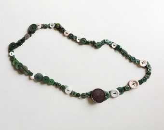 Button Necklace - Evergreen Colourway
