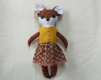Sadie the Big Eyed Fox Doll