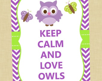 Owl Keep Calm Art