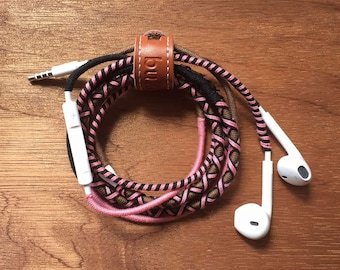 Chocolate Kisses Cotton Braided Earphones