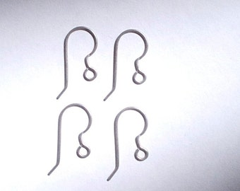 NEW - 2 Pieces - 1 Pair Titanium French Hook Ear Wires