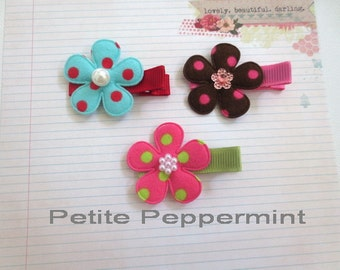 Baby Hair Clip,Toddler Hair Clip,Baby Bow Clip,Girl Hair Clip,Baby No Slip Hair Clip,Baby Clippie,Baby Barette,Set of 3