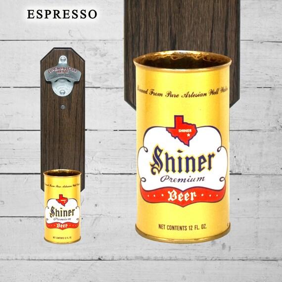 Beer Gift Shiner Texas Bottle Opener with Wall Mounted Vintage