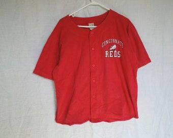 80s Cincinnati Reds MLB Button Down T-Shirt