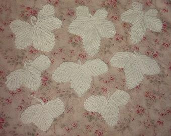 "A lot of great old leaves handmade crocheted ""crochet art"""