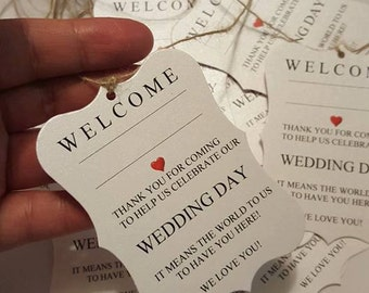 24 Welcome tags, welcome guest tags, guest tags, wedding tags, frame tags, welcome wedding tags, welcome guest, favor tags, event tags cute