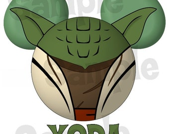 Yoda Star Wars inspired Character Mickey head DIGITAL printable file DIY