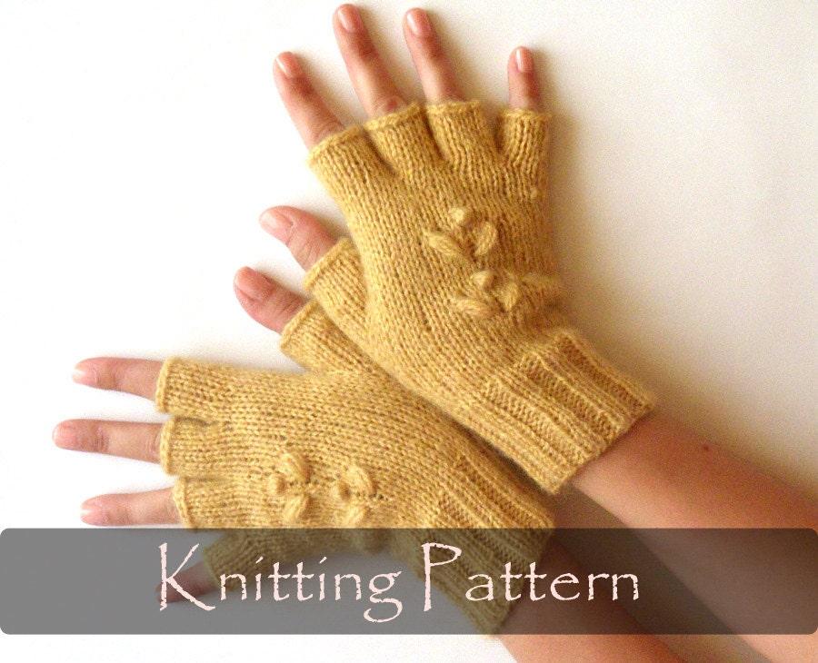 KNITTING PATTERN Knit Fingerless Mittens Half Fingerless