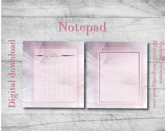 Pink Tulle Series Notepad