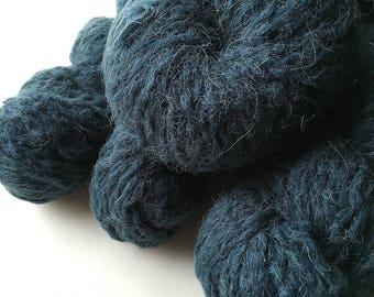 Reclaimed Bulky Yarn - acrylic/alpaca/wool/nylon - Blue Seas