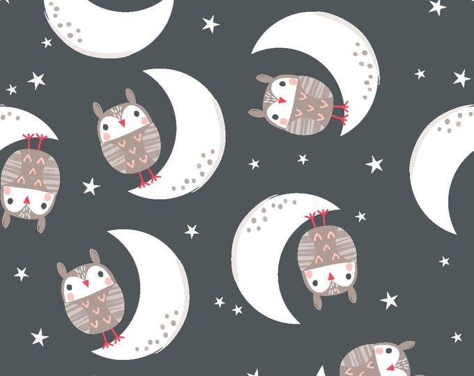Good Night Forest by Fabric Editions - Good Night Owls - Cotton Woven Fabric