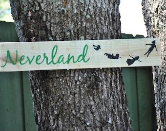 Peter Pan Neverland Outdoor Yard Sign