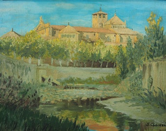 S. Claveria Oil on Canvas & Board Rural Scene