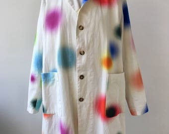 Colorful / Coat / Omen / Woman / Spots / Dots / Cotton / Fashion / Onesize / Designer / White / 2015