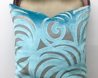 Turquoise Blue Velvet Throw Pillows, Blue Pillow, Velvet Pillow Cover, Luxury Pillows, Velvet Cushion, Turquoise Velvet Pillow Case Covers