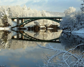 Narrowsburg Bridge, Winter Sunrise