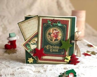 Scrapbook Mini Album-A Christmas Carol-Graphic45 design.
