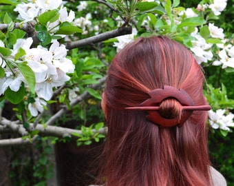 mother gift, Valentine's gift, Gift for her floral girlfriend gift Wooden Shawl Pin Hair Barrette Hair Pin Hair Stick Hair slide Womens Gift